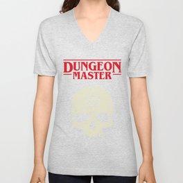 Hardcore Dungeon Master Skull DnD Unisex V-Neck