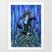 The Sea Witch's Pets Art Print