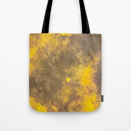 Yellow Painted on Concrete Tote Bag