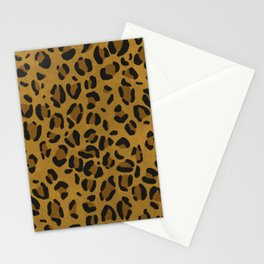 Scene Kid Leopard Print (GOLD) Stationery Cards