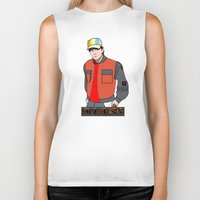 mcfly Biker Tanks featuring Marty McFly by Pendientera