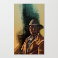 grand theft auto Canvas Prints featuring Grand Theft Auto Online Characters - The Lazy of The Damned by W.Flemming
