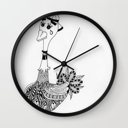 Ozzy the Ostracized Ostrich Wall Clock