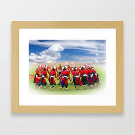 Native Dancers in Taiwan Framed Art Print