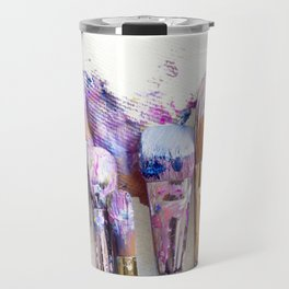 Six Dirty Paintbrushes (Photo) Travel Mug