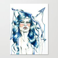 "sagittarius Canvas Prints featuring ""Sagittarius"" by Mia Desu"