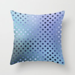 Minimalist Pattern With Iridescent Blue Circles 27 Throw Pillow