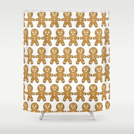 Gingerbread Cookies Pattern Shower Curtain