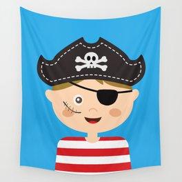 Pirat Costumed Kids Wall Tapestry