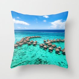 Tahiti paradise honeymoon vacation destination Throw Pillow