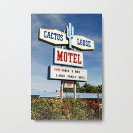 Cactus Lodge Motel Metal Print
