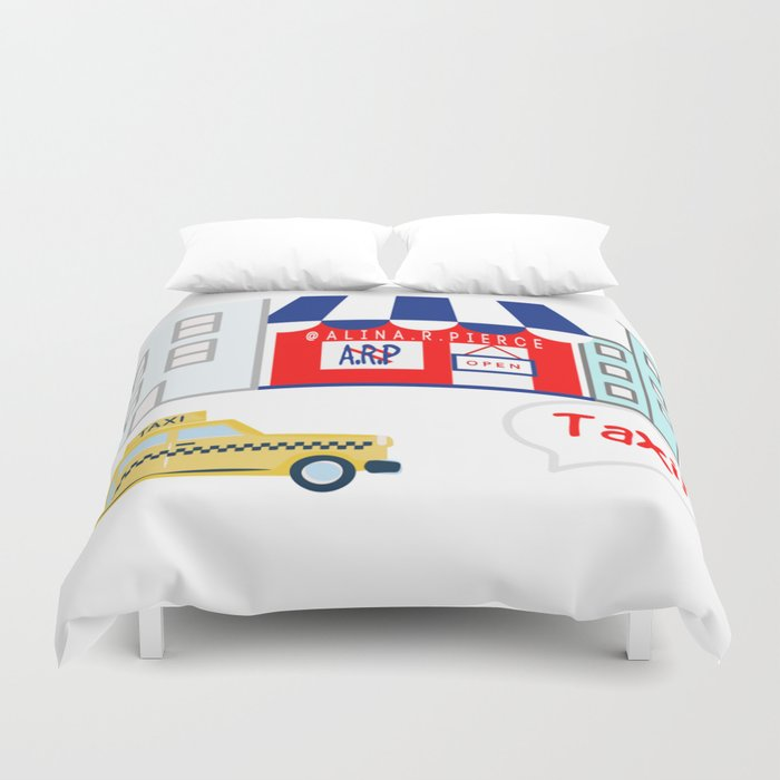 Taxi! - for arp - Duvet Cover