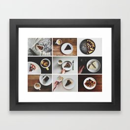Morning stories - SWEET set Framed Art Print