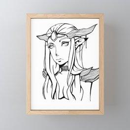 Dragon Queen (Uncolored) Framed Mini Art Print