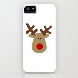 Christmas Reindeer-White iPhone Case
