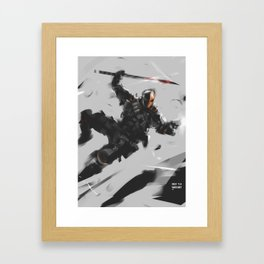 DStroke Sketch Framed Art Print