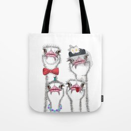 Ostrich family 2 Tote Bag