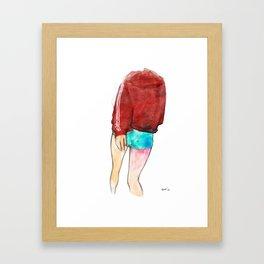 turn or burn Framed Art Print