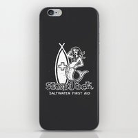 salt water iPhone & iPod Skins featuring Salt Water First Aid by SKEWJACK