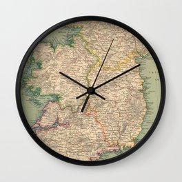 Vintage Map of Ireland (1888) Wall Clock