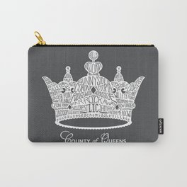 County of Queens | NYC Borough Crown (WHITE) Carry-All Pouch