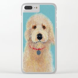 Labradoodle Ginger Clear iPhone Case