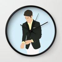 darren criss Wall Clocks featuring Darren Criss - Do Something Awards by laurenschroer