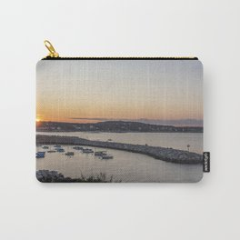 Breakwater in Rockport at sunset Carry-All Pouch
