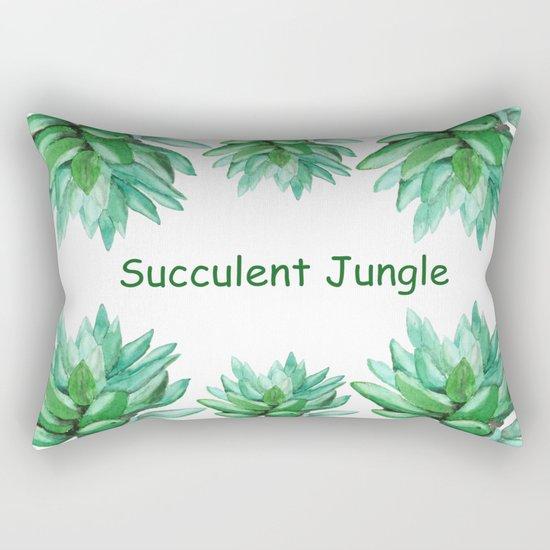 succulent echeveria Rectangular Pillow