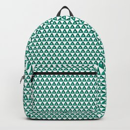 Green Triangle Geometric Patterns Backpack