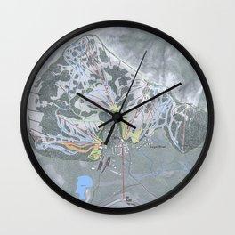 Sugar Bowl Resort Trail Map Wall Clock