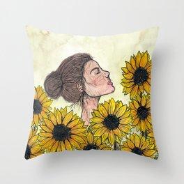 The Sienna Portrait  Throw Pillow