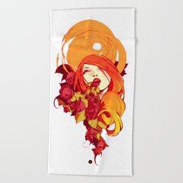 desert rose Beach Towel