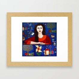 Thanks to Life collage Framed Art Print