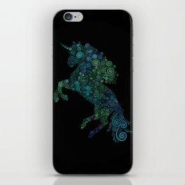 Green and Blue Unicorn Filix iPhone Skin