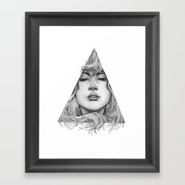 Triangle Portrait Framed Art Print