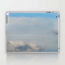 Texture of sky with clouds, cloudy weather background Laptop & iPad Skin