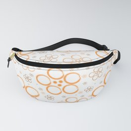 Orange floral pattern Fanny Pack