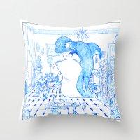 killer whale Throw Pillows featuring Killer Whale by Tayfun Sezer