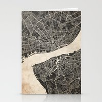 liverpool Stationery Cards featuring liverpool map ink lines by NJ-Illustrations