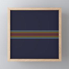 Classic Fine Retro Stripes Framed Mini Art Print