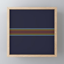 Classic Fine Retro Stripes Framed Mini Art Print