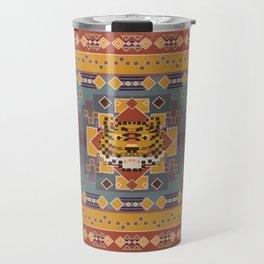 Boho Graphic Moroccan Oriental Modern Pattern Art Design - 3 Tiger Travel Mug