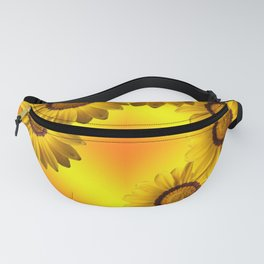 Yellow flowers in sunlight Fanny Pack