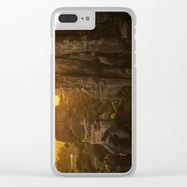 Golden hour at Meteora Clear iPhone Case