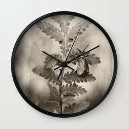 Forester Moth Monochrome Wall Clock