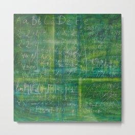 Old green schoolboard Metal Print