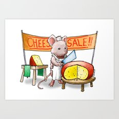 The Cheese Monger Art Print