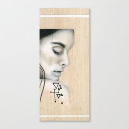 Beach Tribe Eight - Gypsy Soul Searching Woman Canvas Print