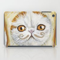 snoopy iPad Cases featuring Snoopy aka Breadcat - Cats with Moustaches by Megan Mars